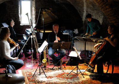 Première répétition de la musique de film composée par François Miquel pour le ciné concert du 5 août 2