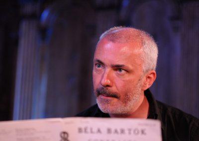 le clarinettiste Francois Miquel en repetition des contrastes de bartok