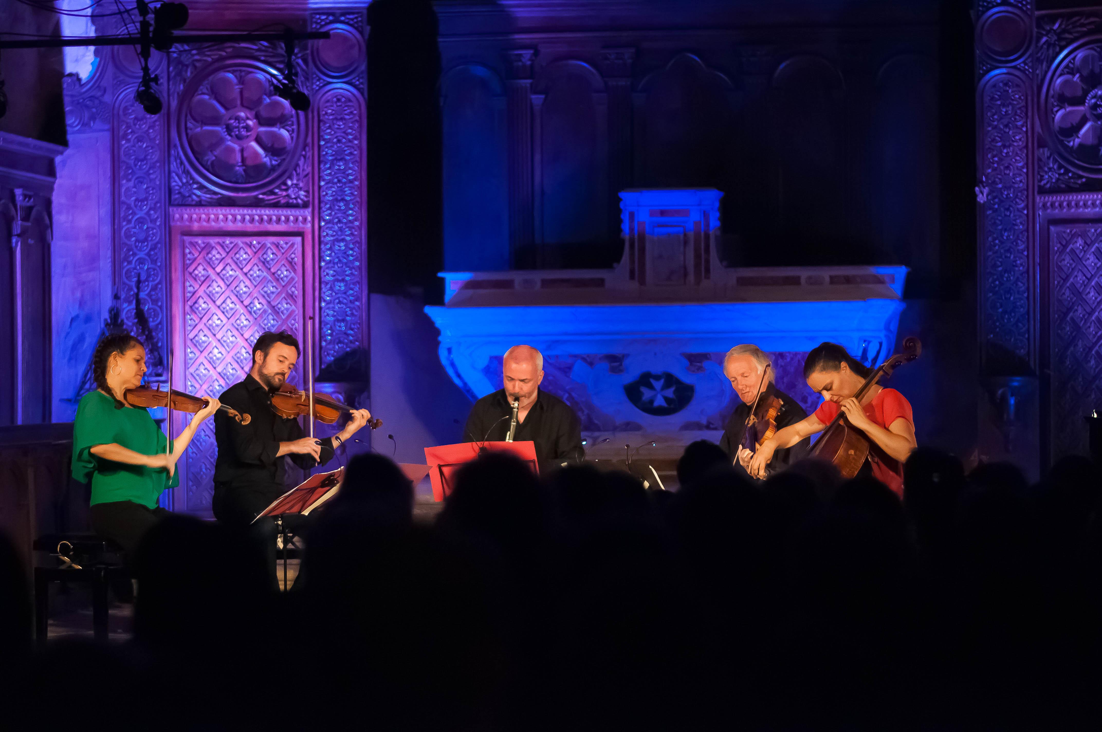 Le clarinettiste François Miquel dans le quintette avec Clarinette de Brahms avec le Quatuor Elias