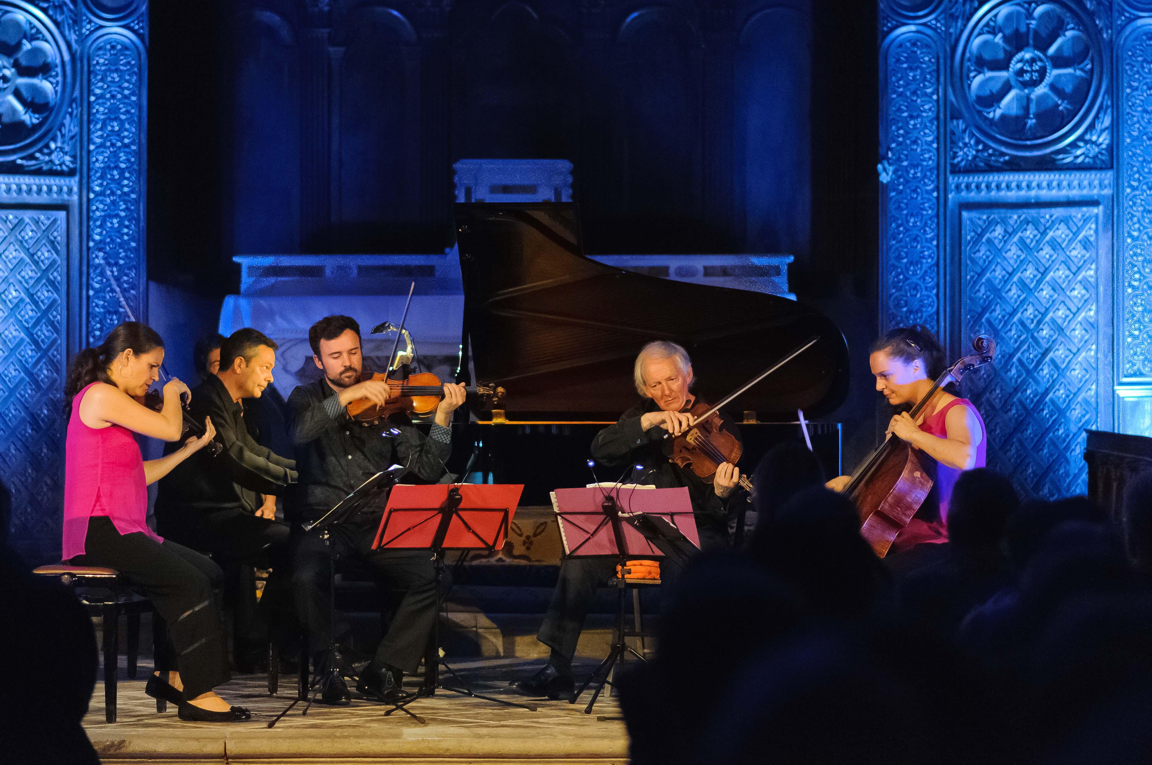 Un sublime quintette de Brahms avec le le pianiste Jean-Sébastien Dureau et le Quatuor Elias